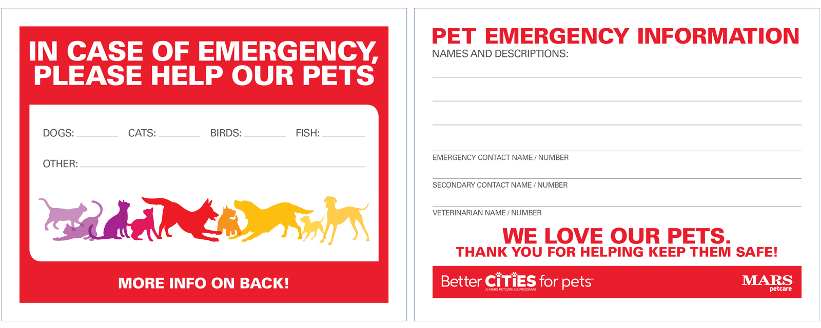 in case of emergency  who cares for your pets  a pet alert