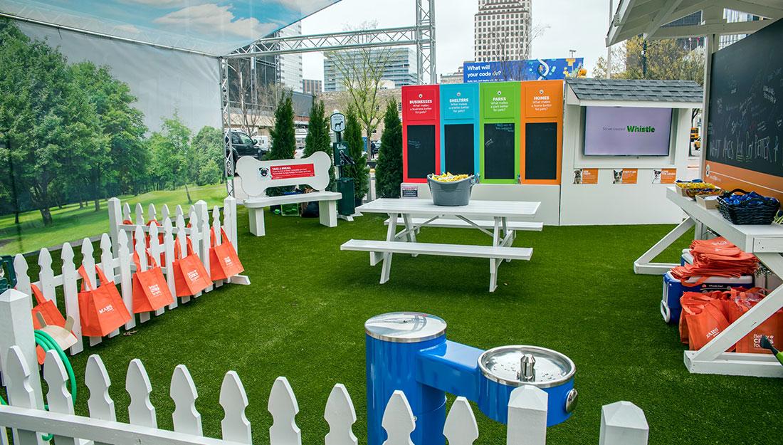 Mars Petcare urban dog park installation