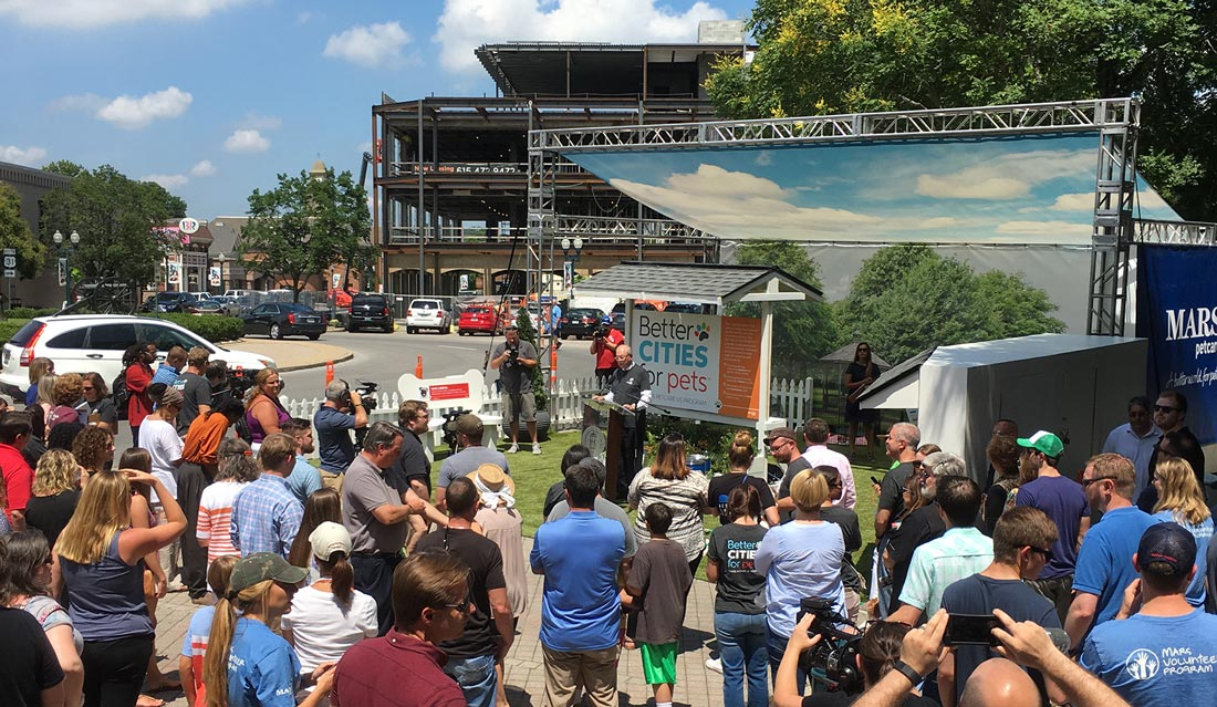 Pet-friendly city kickoff in Franklin, Tennessee
