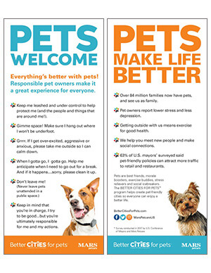Pet rules card with dogs