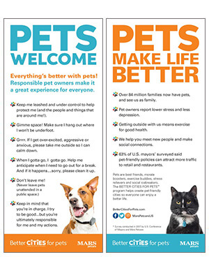 Pet rules card with cat and dog
