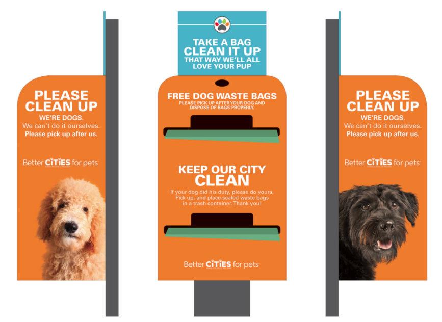 Sample pet waste bag dispenser
