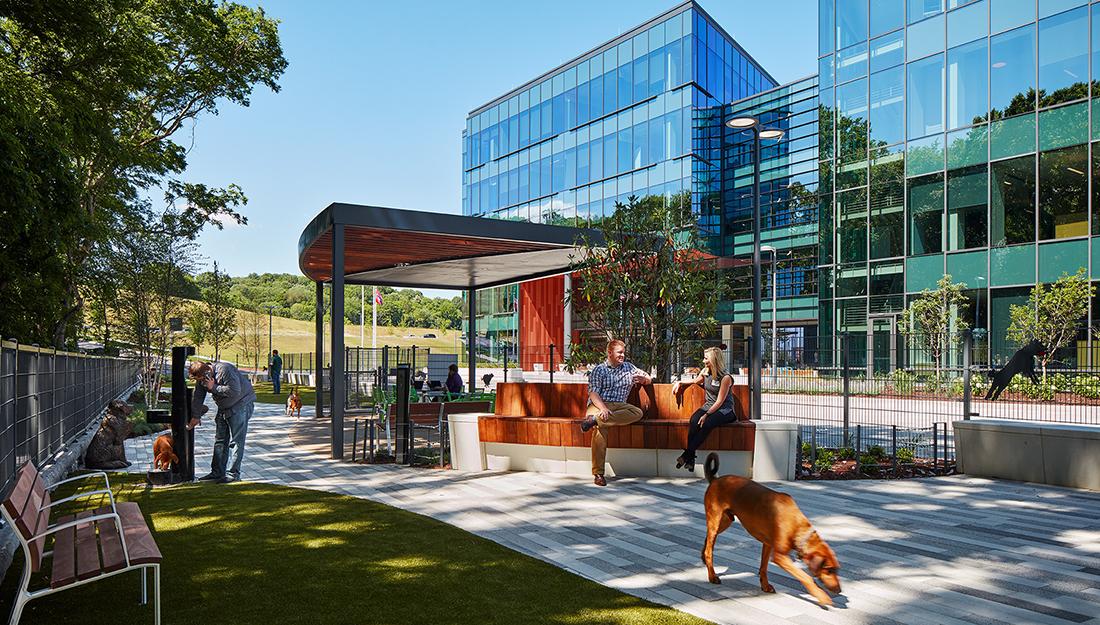 Dog park outside Mars Petcare North America headquarters.