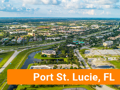 Aerial view of Port St. Lucie, FL