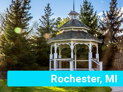 Beautiful park in Rochester, MI