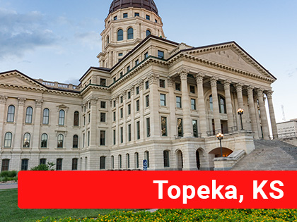 Capitol building in Topeka