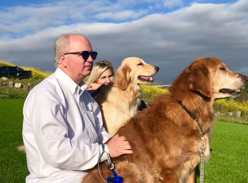 The mayor, his wife and pets