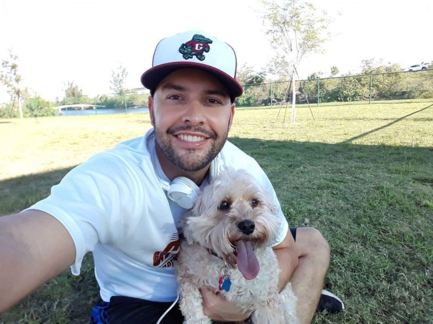 Miami Lakes Manny Cid and dog