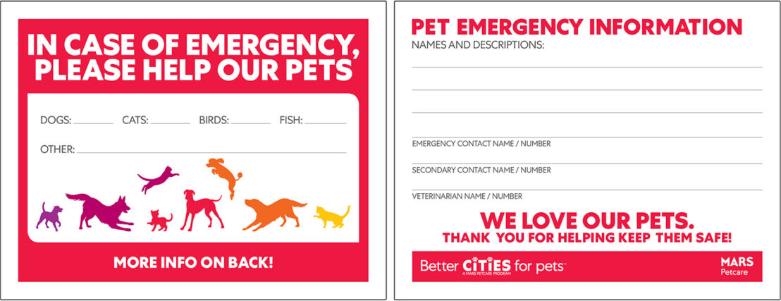 printable pet emergency sign for window